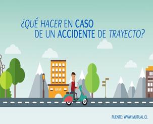 que hacer en caso de accidente de trayecto