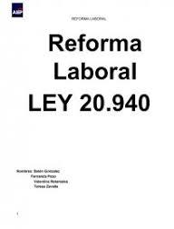 reforma laboral ley 20940